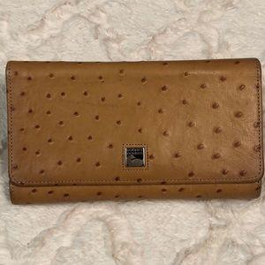 Vtg Dooney & Bourke Ostrich Leather Wallet